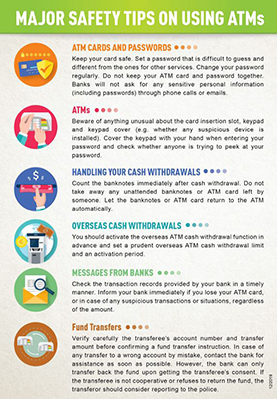 Leaflet - Major Safety Tips on Using ATMs