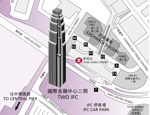 Map of Two International Finance Centre